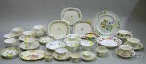 Lot of Approximately Thirtyseven Assorted English Decorated Ceramic Tea and Tableware Items