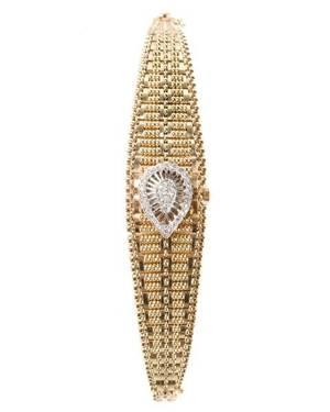 Art Deco 14k Gold  Diamond Watch DNaco