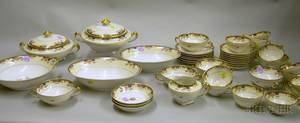 123piece Haviland Limoges Fontainebleau Pattern Porcelain Dinner Service