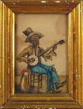 Watercolor portrait of an African American 19th c