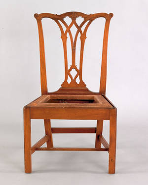 Philadelphia Chippendale mahogany dining chair ca 1775