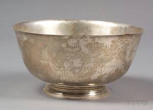 Tiffany  Co Sterling Presentation Bowl
