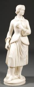 Large Italian Carved Marble Figure of a Woman