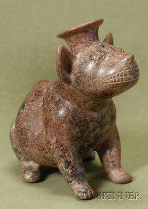 PreColumbian Painted Pottery Dog