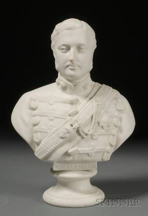 BrownWesthead Moore  Co Parian Bust of Edward Prince of Wales