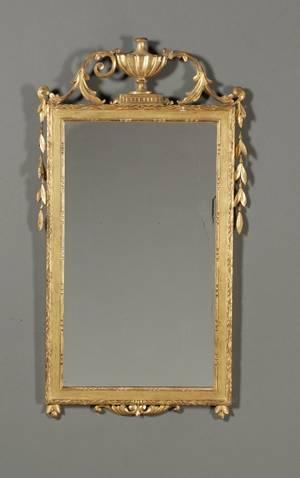 Italian Neoclassical Giltwood and Composition Mirror
