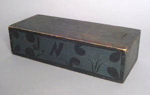 Centre County Pennsylvania painted slide lid box mid 19th c