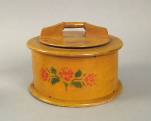 Pennsylvania painted bentwood pantry box 19th c
