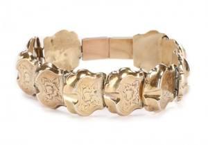 Ladies Vintage 14k Yellow Gold Link Bracelet