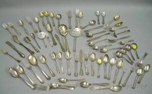 Group of Assorted 19th20th Century Sterling Silver Flatware
