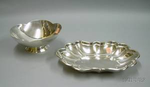 Boardman Sterling Silver Footed Bowl and a Reed  Barton Sterling Silver Windsor Bowl