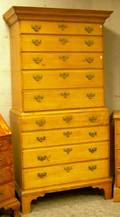Chippendale Maple Twopart ChestonChest