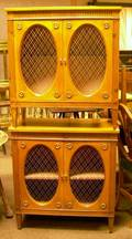 Pair of Frenchstyle Fruitwood TwoDoor Side Cabinets