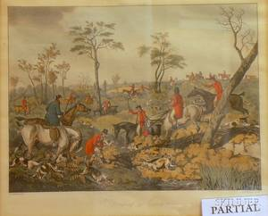 Pair of Framed Henry Alken Hand Colored Aquatints of Sporting Scenes