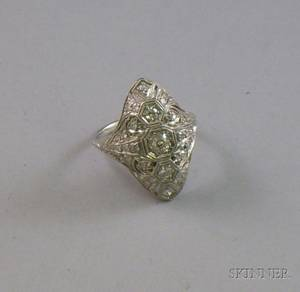 Art Decostyle Platinum and Diamond Ring