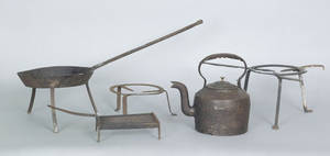 Wrought iron hearth equipment late 18th c