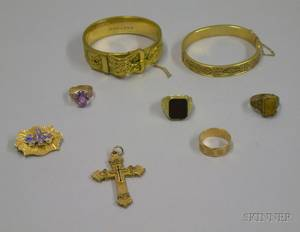 Group of Victorian and Victorianstyle Gold and Goldfilled Jewelry