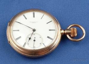 Antique 18kt Gold Open Face Pocket Watch Tiffany  Co Geneva