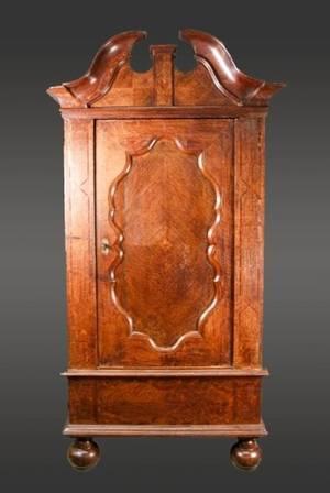19th C Oak Single Door Armoire