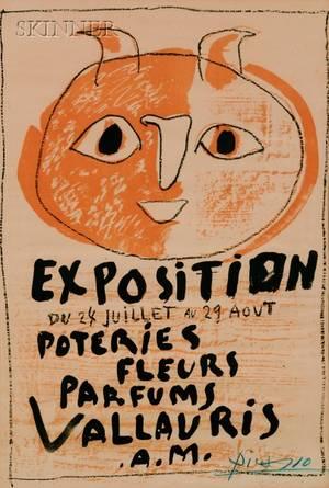 Pablo Picasso Spanish 18811973 Troisieme Affiche Vallauris Exposition Poteries Fleurs Parfums Vallauris AM