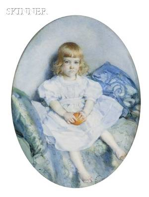 Laura Coombs Hills American 18591952 Portrait of a Child Purportedly Augustus Hemenway of Canton Massachusetts