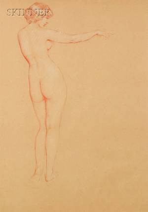 Philip Leslie Hale American 18651931 Full Length Nude