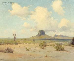 Robert William Wood American 18891979 Desert View with Butte
