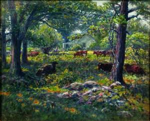 George Arthur Hays American 18541945 Lot of Three Woodville Pasture