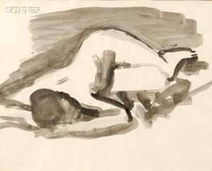 David Park American 19111960 Female Nude Reclining
