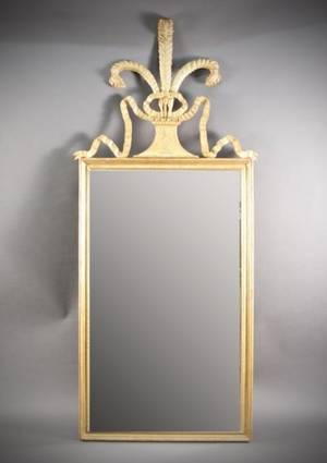 Prince of Wales Plume Gilt Wood Mirror