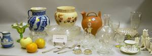 Large Lot of Assorted Decorated and Pattern Porcelain Ceramics Glass and Decorative Items and Wares