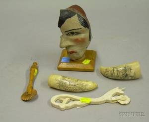 Group of Five Assorted Marine Items