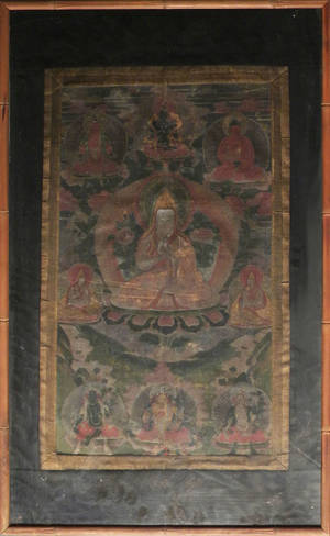 Pair of Tibetan thangkas