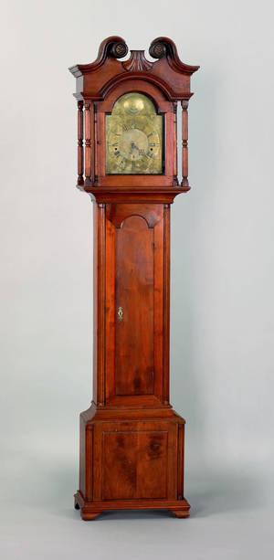 Philadelphia Chippendale walnut tall case clock mid 18th c
