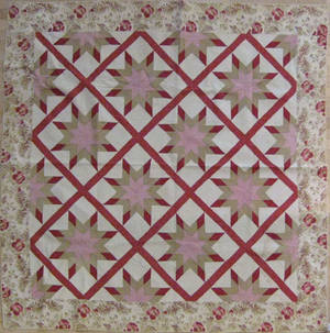 Appliqu star pattern quilt late 19th c