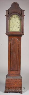 Chippendale Birchcased Tall Clock