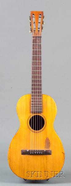 American Parlor Guitar Attributed to L Violh Flushing Connecticut c 1890