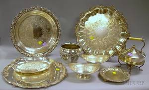 Nine Silver Plated Serving Hollowware Items