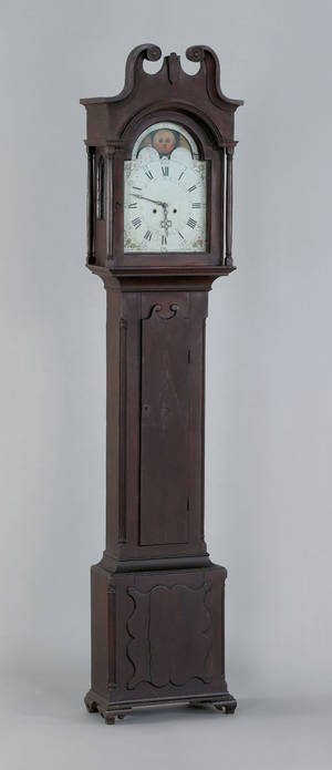 Pennsylvania Chippendale walnut tall case clock ca 1790
