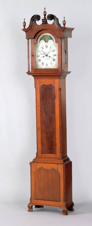 York Pennsylvania Chippendale walnut tall case clock ca 1800
