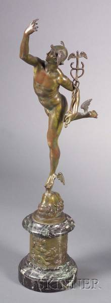Bronze Renaissance Style Figure of Mercury