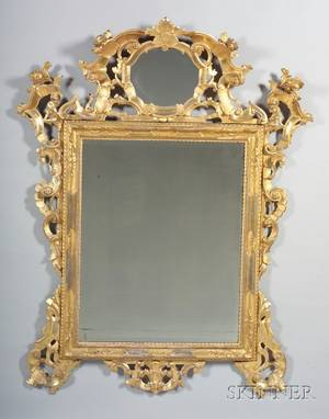Large Louis XVstyle Giltwood Mirror