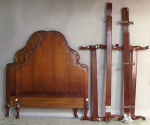 Pair of French mahogany beds