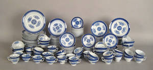 Copeland Spode blue and white dinner service 20th c