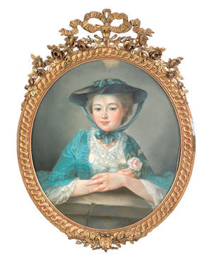 French pastel portrait of a young woman early 19th c
