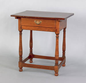Pennsylvania diminutive walnut tavern table 18th c