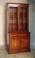 Georgian style mahogany bookcase by F  G Furniture