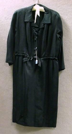 Vintage 1960s Balenciaga Black Silk Dress