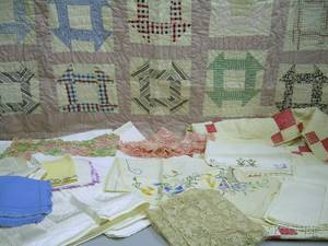 Box of Assorted Household Linens