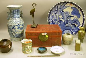 Group of Asian Ceramic and Metal Objects